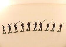 Allgeyer Lot de 10 soldats suisses fusil au défilé métal ancien 28 mm en étain