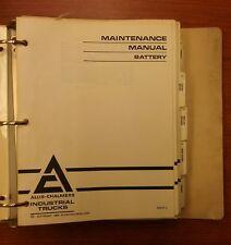 ALLIS-CHALMERS FORKLIFT MAINTENANCE MANUAL BATTERY (EM-01-2)
