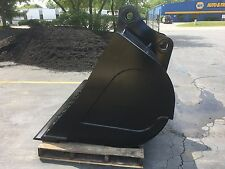 "New 84"" John Deere 350 Ditch Cleaning Bucket with Coupler Pins"