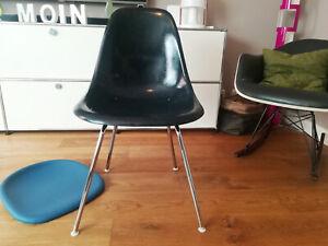 1960s original CHARLES EAMES Side Chair DSX Fiberglas H-Base HERMAN MILLER Vitra