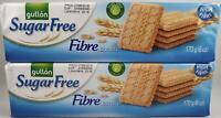 2 Packs of Gullon SUGAR FREE Fibre Biscuits 170g