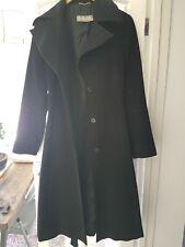 MaxMara Gorgeous Designer Black Wool Coat Size 10