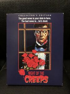 Night of The Creeps Scream Factory Blu Ray Slipcover ONLY Rare OOP