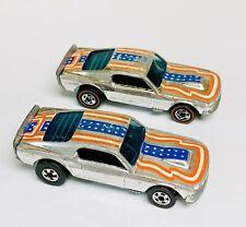 Hot Wheels Blackwall DoorLine & Redline Mustang Stocker Stars & Stripes Lot