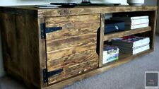 KRUD 1 Door Cabinet~Solid Wood~24 Colours~Chunky~Rustic~Country~TV Unit~Cabinet