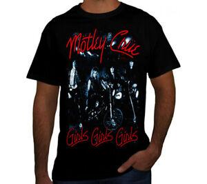 MOTLEY CRUE GIRLS GIRLS GIRLS PUNK ROCK Black T Shirt