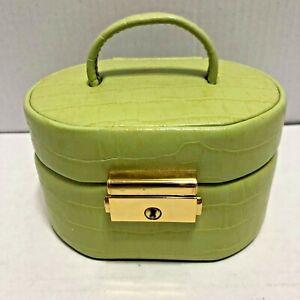 Dalys 1895 Wolf Designs Fine Leather Jewelry Case Travel Holder Box Black