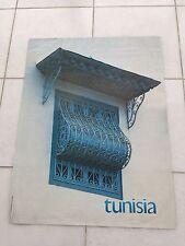 Vintage art français affiche publicitaire 1958 pour la tunisie par tourist board
