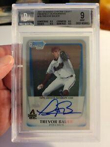 2011 Bowman Chrome Trevor Bauer Base Auto Rookie BGS 9/10 Cy Young Dodgers