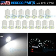15pc White BA9S 1895 Instrument Panel Gauge Dash Cluster 2835 SMD LED Light Bulb