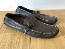 Mens Ralph Lauren Polo Brown Leather TERRY Loafer Shoes UK 7