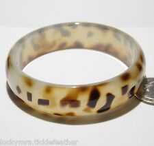 "Bangle Bracelet, Brown Leopard Spot Translucent Acrylic, 8 x .75"" NEW from Macys"