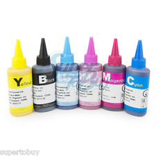Pigment Ink Refill Bottle Set for Epson Artisan 50 Stylus Photo R260 R280 R380