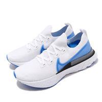 Nike React Infinity Run FK Flyknit White Blue Men Running Shoes CD4371-101
