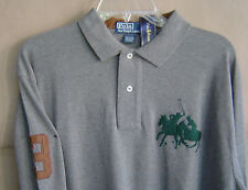 NWT $145 POLO RALPH LAUREN Mens L DUAL MATCH Gray L/S CLASSIC FIT Cotton Shirt