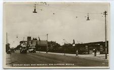 Stanley Road War Memorial Gardens Bootle Merseyside UK RPPC real photo postcard