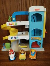 Fisher Price Little People Helpful Neighbors Garage Toy Playset with 3 Cars