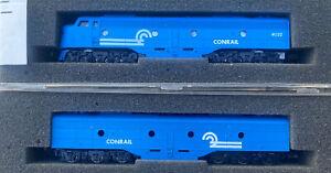 n scale Con-Cor EMD E8 AB Conrail locomotive set PWR/Dummy Tested/Runs New Cond.