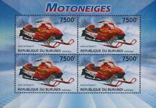 Arctic Cat Firecat F7 Snowmobile Vehicle Stamp Sheet (2012 Burundi)