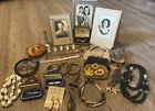 Vintage+Antique+Estate+Junk+Drawer+Mixed+Lot+Jewelry%2C+Coin+Purses%2C+And+Pictures