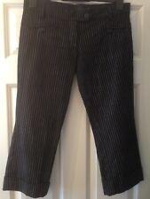 Criminal Damage Cropped Fines Rayures Revers Talon Pantalon Pantalon 30 W goth metal 6