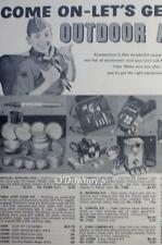 1960 Vintage ad  Boy Scouts of America Equipment  Cabin Art 10 x 13.5