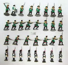 31 Napoleonic ? Miniature Soldiers - Metal Part Painted - (2622)