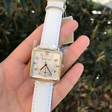 Michael Kors Authentic Women's Watch MK2677 Brenner White Leather NWT