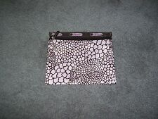 Le Sportsac Pink & Brown Make-Up Bag Pouch