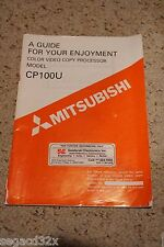 Mitsubishi CP100U Color Video Copy Processor Manual