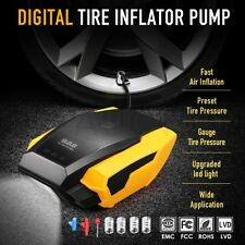 Digital Tyre Inflator 12V Portable Air Compressor Car Bike Tire Pump w/ LED