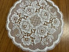 "White Filet Lace Table Doily Mat 12"" SR606"