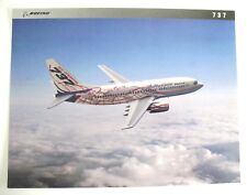 "Boeing 737 NEXT GEN  -  8.5"" x 11"" -  Picture & Data Card -  by BOEING in 1997"