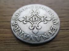France pièce royale argent 4 sols des traitants 1676 D Louis XIIII TB
