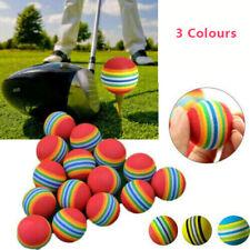 up to 75pcs Rainbow Stripe Foam Sponge Golf Balls Swing Practice Training Aids