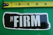 The FIRM Skateboards Paint Graffiti Clear Black Z9 Vintage Skateboarding STICKER