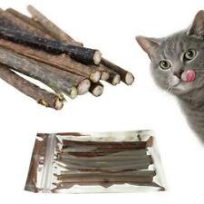 10 Cat Snacks Natural Matatabi Chew Catnip Stick Teeth Molar Cleaning Brush L6W9