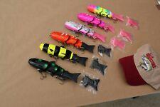 6-Pack DINGO Swimbaits Musky Lure Muskie Northern Pike Largemouth Bass Fish