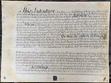 "Rare Antique 24x18"" Photo of Original 1773 Indenture Signed by Button Gwinnett"