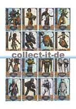 Topps Star Wars Rebel Attax - ALLE 16 Star Wars Glitzer-Karten