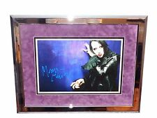 Marilyn Manson Rare Authentic Signed Framed Matted Poster Print Photo Autograph