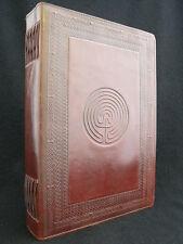 A4 Labirinto pagan wicca Altare in pelle fatto a mano LIBRO Grimoire BOOK-Of-Ombre