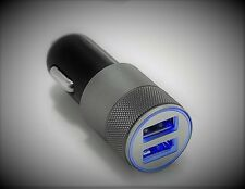3.1A Dual USB Car Charger Alloy 2 Port Universal Fast Charging For HTC LG Nokia