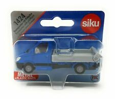 Siku 1424 Mercedes Benz Sprinter with Platform blue blister card DieCast toy car