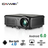 CAIWEI 5000lumen Android 6.0 Heimkino Beamer WiFi Bleutooth Projektor 1080P HDMI