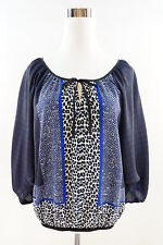 Women's EXPRESS Dolman Batwing Printed Blouse Size M multicolor