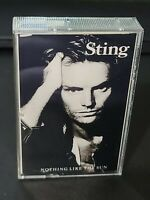 Vintage 1987 STING - ...Nothing Like the Sun Rock Music Cassette Tape b24