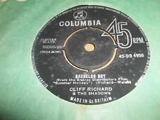"CLIFF RICHARD "" THE NEXT TIME / BACHELOR BOY "" 7"" SINGLE GOOD+ 45DB 4950 (1962)"