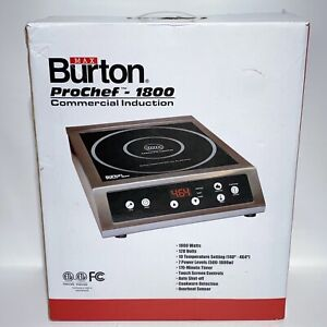 Max Burton Pro Chef 1800 Commercial Induction Cooktop 1800 Watts