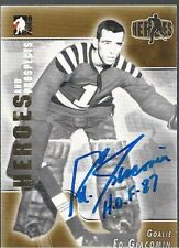 Detroit Red Wings ED GIACOMIN Signed Heroes & Prospects Card